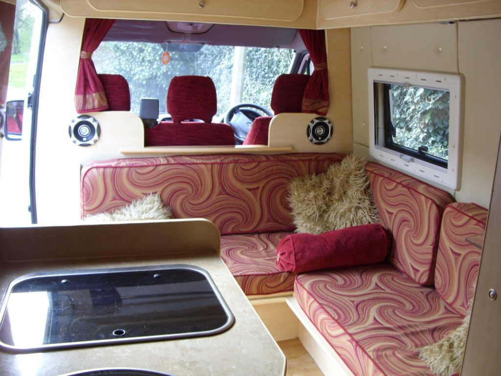 Camper van cushions and soft furnishings by Tovey Mead of sewtovey