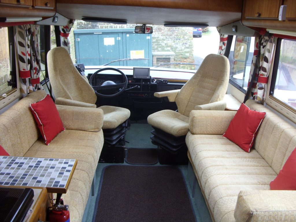 Camper soft furnishings and seat covers by Tovey Mead of sewtovey