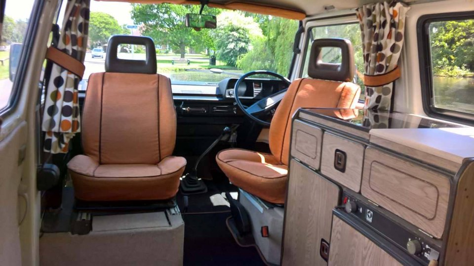 Car seat covers and curtains made by Tovey Mead of sewtovey