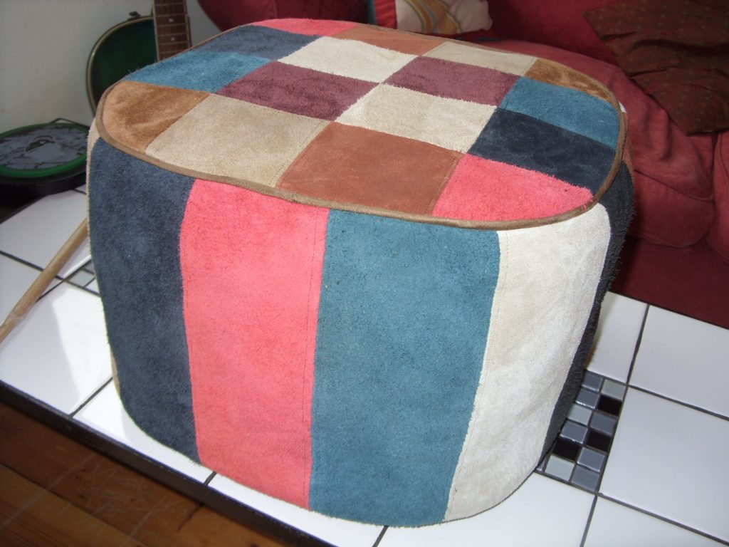 Foot rest made by Tovey Mead of SewTovey Sussex Seamstress