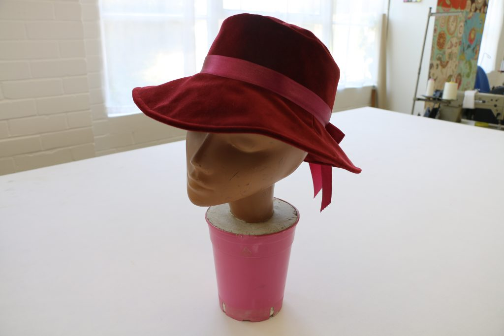 Handmade hat by Tovey Mead of SewTovey a West Sussex Seamstress