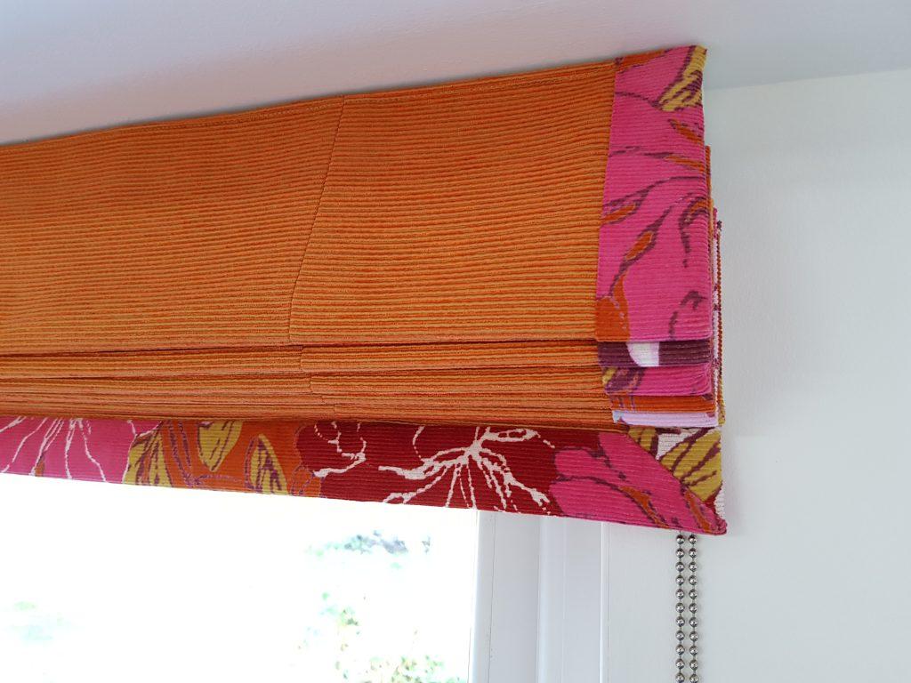 Wonderful orange blind by Tovey Mead of SewTovey